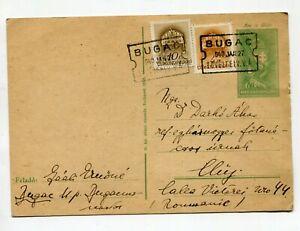 "Hungary 1940 Uprated stationery postcard with  ""BUGAC LEVÉLFELV. V.Á."" pmk"