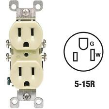 200 Pk Leviton 15A 125V Ivory 2 Pole 3 Wire 5-15R Duplex Electric Outlet 12650I