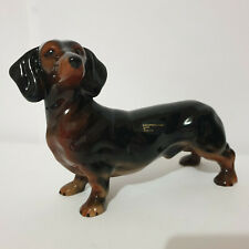 Porcelain Dachshund By Coopercraft Made in England Animal Figurine Dog Vintage