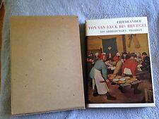Von Van Eyck Bis Bruegel / Max J. Friedlander -1965- Hardback Book w/ Slip Cover