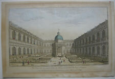 OPTICAL VIEW visionneuse Feuille Escorial MADRID ESPAÑA Orig CUIVRE Pli 1760