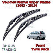 "(03-10) Vauxhall Meriva Front Wiper Blades Windscreen 2x 24"" Hook Type Wipers"