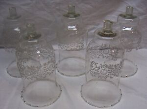 HOME INTERIORS / HOMCO VOTIVE CUPS - 5 CLEAR PARK LANE VOTIVE CUPS - VERY HTF