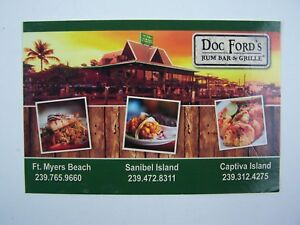 Doc Ford's Rum Bar & Grille Postcard Randy Wayne White