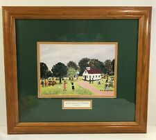 Ruth Russell Williams Print Old Time Revival Black Americana Framed Matted