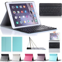Leather Case Cover +Removable Wireless Bluetooth Keyboard For Apple iPad Air 1st
