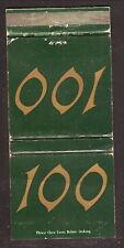 Dartmouth National Bank--100th Anniversary--1965 Matchbook Cover--Hanover, NH