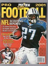 2001 PREVIEW SPORTS PRO FOOTBALL YEARBOOK-EDDIE GEORGE-TENNESSEE TITANS-WARNER