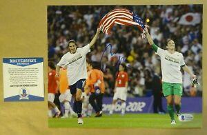Autographed CARLI LLOYD Signed 8x10 USA SOCCER Photo Beckett COA