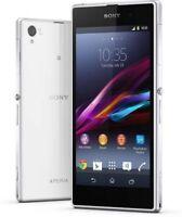 "5"" Sony Ericsson Xperia Z1 C6903 21MP GPS NFC 16GB Libre TELEFONO MOVIL Blanco"