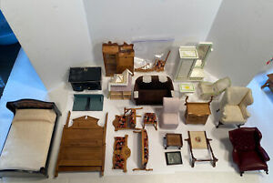 Broken Furniture Lot for Repair Most With Parts Signed Dollhouse Miniature 1:12