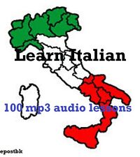 Learn Italian 100 Lessons Audio Book MP3 CD iPod Friendly Italian Language disc
