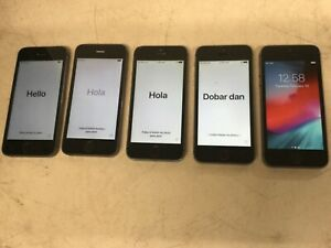 Lot of 5 Apple iPhone 5s 16GB AT&T Gray A1533 Free Shipping