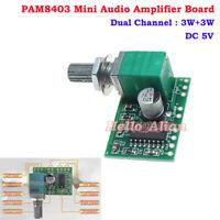 PAM8403 DC 5V 3W+3W Dual Channel Mini Audio Amplifier Board AMP Module USB Power