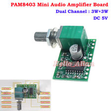 Mini PAM8403 Audio USB Power Amplifier Board DC 5V 3W+3W Dual Channel Amp Module