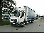 Right-hand drive MAN/ ERF Commercial Curtainsiders