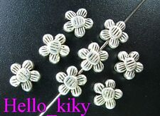 150 Pcs Tibetan silver lined flower spacer beads A153