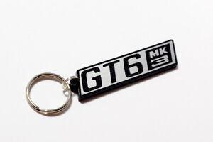 Triumph GT6 Mk3 Keyring - Brushed Chrome Effect Classic Car Keytag / Keyfob