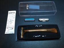 Mercer Solingen German Razor w/ 3 Adapters Gillette Excel Schick Gold Boxed NEW*