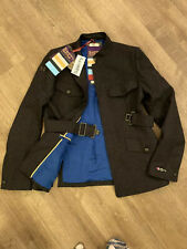 RRP£199  superdry surplus japan tunic military brown Coat Size L Large/ 12 Wool