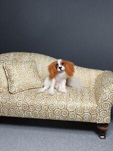 OOAK Realistic king charles cavalier spaniel dog Dollhouse Handmade IGMA ARTISAN