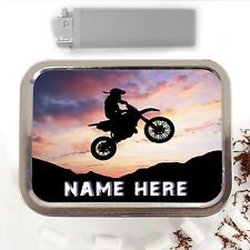 Dirt Bike Motocross 2oz Tobacco Tin Baccy Storage Pouch Personalised Gift SH063