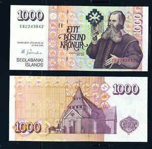 ICELAND - 2001 1000 Kronur UNC Banknote