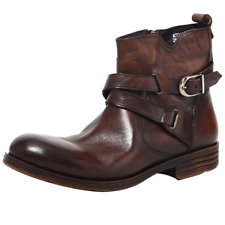Men's Real Leather Ankle Boots Shoe Retro Round Toe Work Office Outdoor Knight L