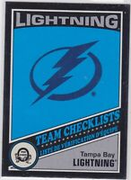 19/20 OPC..TAMPA BAT LIGHTNING TEAM CHECKLIST..BLACK,,087/100,.# 576..LIGHTNING