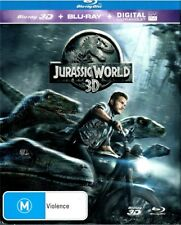"""JURASSIC WORLD 3D"" Blu-ray 3D + Blu-ray + Digital UV, 2 Disc Set - Region [B]"