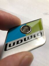 Ludwig Blue And Olive Drum Badge With Chrome Grommet/vent 6Ply