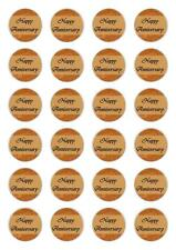 24  Wedding Anniversary  Cupcake Fairy Cake Toppers Edible Wafer Paper topper