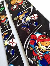 Garfield Mens Designer Neck Tie NWOT Pro Team Sports Graphic Paws Addiction