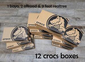 12 Crocs Empty Shoe Boxes Brown & Black Men's 12 Baya, Offroad, Feat Realtree
