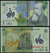 ROMANIA 1 LEU (P117k) 2005 (2017) POLYMER UNC