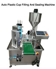 Automatic plastic cup filling and sealing machine 30 cups/min By Sea