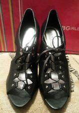 BCBGirls Womens Colmar Wedge Sandal  Vintage Black Sheep Leather (NIB) Size 8