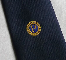PROBUS INFORMATION CENTRE CLUB ASSOCIATION TIE VINTAGE 1970s 1980s NAVY BLUE