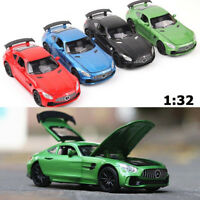 1:32 Benz AMG GTR Diecast Metal Model Car Sound and Light Pull-back Vehicle Toy