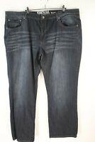 Kenneth Cole Reaction Mens Boot Cut High Rise Black Denim Jeans Size 40x30