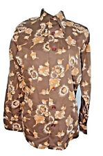 McGregor Usa Vtg 70s Disco Shirt Art Deco People Point Collar Vtg Sz M 15-151/2.