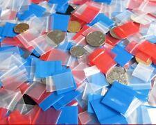 100pcs 7.87mil Tiny Small PE Plastic Zip Bag Ziplock Blue Mini Bags 1.2 x 1.6 in