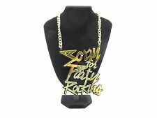 Hip Hop Large Sorry For Party Rocking Pendant/Necklace! Halloween Fancy Dress!