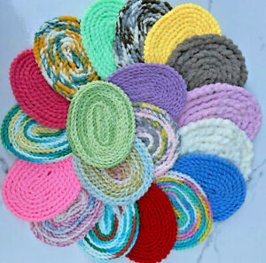 12 Miniature Dollhouse rugs 1:12 scale round and oval