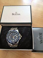 Bulova Marine Star Stainless Steel Mens Quartz Watch Model 98B130 New Boxed