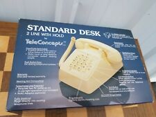 Teleconcepts Vintage AT&T ITT Style Telephone Vintage Desk Push Button Ivory NEW