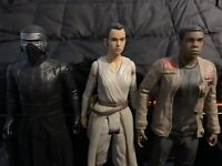 3 Star Wars 18 Inch Jakks Pacific Action Figures  - Rey, Kylo Ren, And Finn Lot