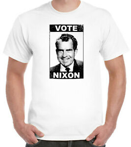 Vote Nixon Distressed T-Shirt USA Politics President America Funny Richard Trump