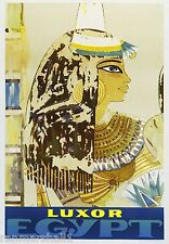 Luxor Egypt King Tutankhamun Vintage Travel Art Advertisement Poster