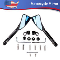 8MM/10MM Universal Rear Side Rearview Mirrors Motorcycle Scooter Bike Blue Glass